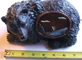 Black Bear Mantle Desk or Table Night Lamp Ligh... - $23.70