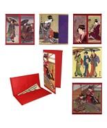 JAPANESE GEISHA WALLET Paper Bi-Fold Checkbook Cover Ukiyo-e Asian Women... - $7.95
