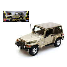 Jeep Wrangler Sahara Khaki 1/18 Diecast Car Model by Bburago 12014kha - $52.14