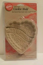 NIP 1997 Wilton True Love I Love You Heart Ovenproof Cookie Fondant Craf... - $7.76