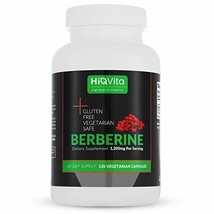 HIQ Vita Berberine 1200mg Serving - 120 Capsules - 60 Days Supply - Supp... - $11.55