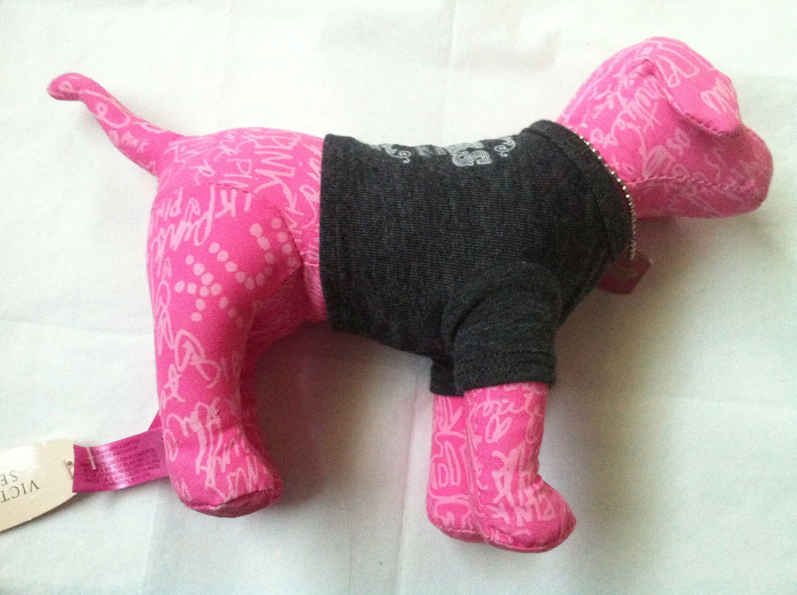 NWT Victoria`s Secret PINK Love & Rock N Roll Stuffed Dog Animal Collectible New - $19.75