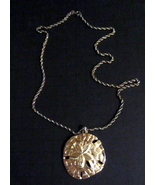 Vintage Sterling Silver Marked 9.25 Chain with Gold Tone Pendant - $85.00