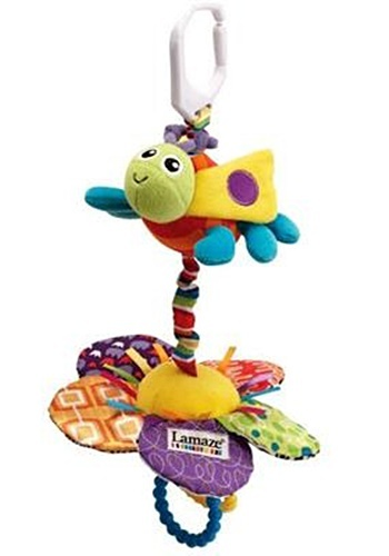 Lamaze Play & Grow Flutterbug Bee with Flower Plush Baby Take Along Activity Toy