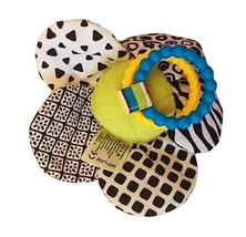 Lamaze Play & Grow Flutterbug Bee with Flower Plush Baby Take Along Activity Toy image 3