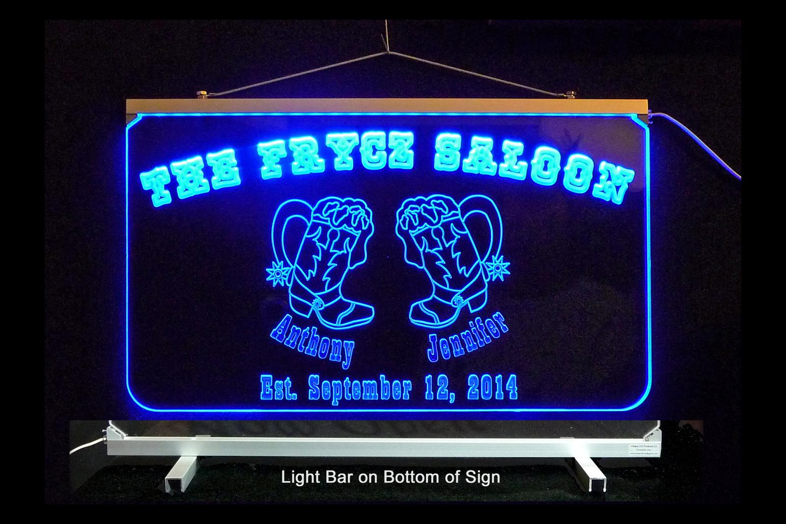 Frycz saloongood blue bottom light bar