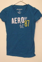 Womens Aeropostale Blue Cap Sleeve T Shirt Size S - $9.95