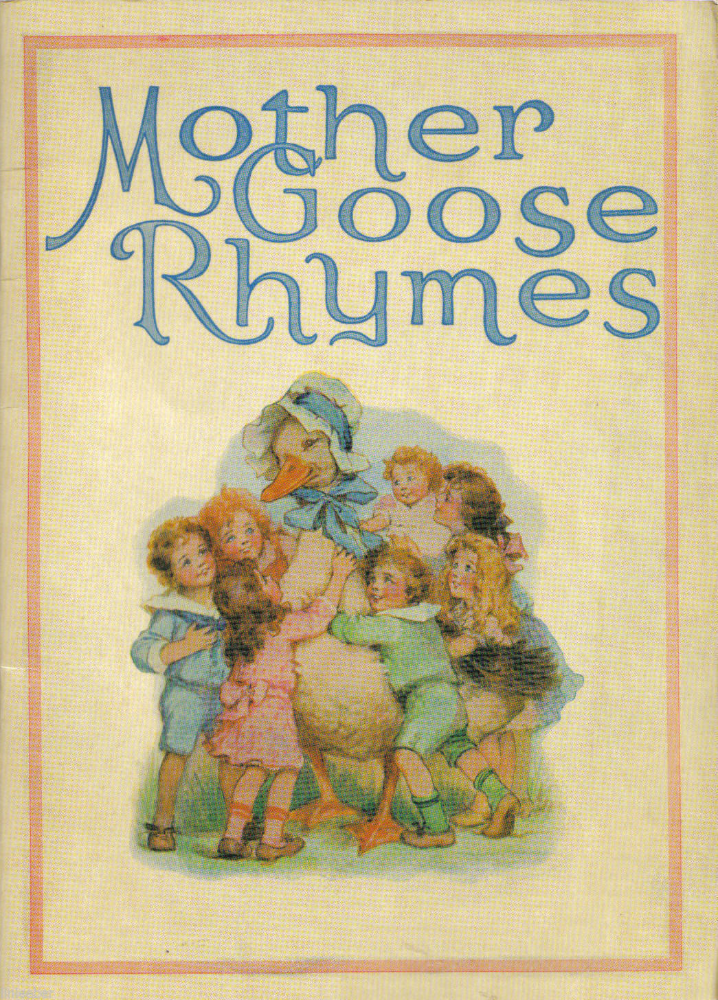 Mother Goose Rhymes-Gallery Graphics; Rare;HTF Reproduction of Antique Book,1995