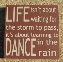 wood primitive block   32347Lm- Life isn't About Waiting.. - $2.95
