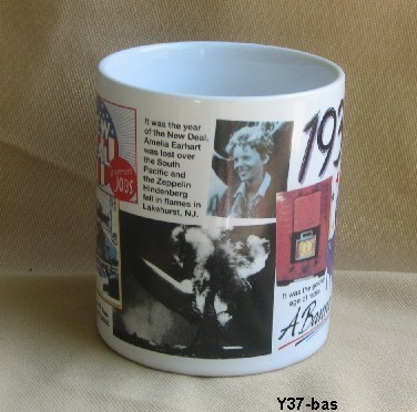 1937 A Banner Year Coffee Mug ....Celebrate 77 years of Living