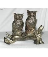 Vintage Silver Plate Owls On Branch Salt Pepper Shakers Japan - $20.00