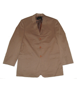 Mens Sport Coat Suit Jacket Size 40 Kenneth Cole New York Tan 3 Button $... - $35.00