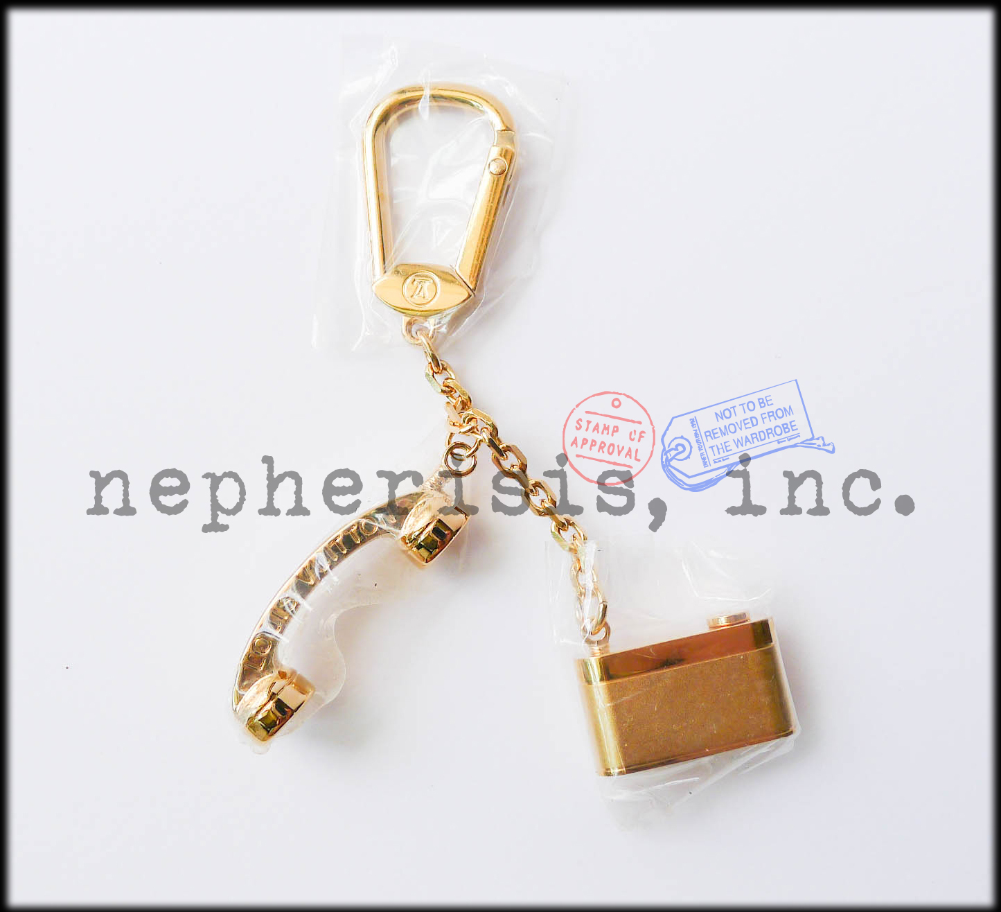 AUTH BNIB Louis Vuitton HOLLYWOOD PHONE & CAMERA Keychain Charm