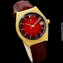 1975 Omega Vintage Seamaster Mens 18K Gold Plated Watch - Mint with Warr... - $1,269.10