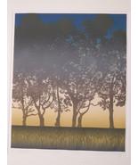 "Large WoodCut  Artist signed AP  ""Sunset "" - $395.00"