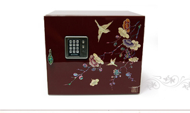 mother of pearl handcrafted jewelry box nacre Abalone shell safe strongb... - €230,92 EUR