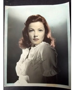GENE TIERNEY (ORIGINAL VINTAGE 1940,S AUTOGRAPH COLOR PHOTO) AMAZING PHOTO - $420.75