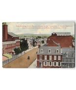 York PA Tyler Building Centre Square Vintage 1912 Gallatin Postcard - $0.69
