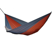 Vivere Parachute Nylon Hammock - Double (Grey/Orange) - $46.98