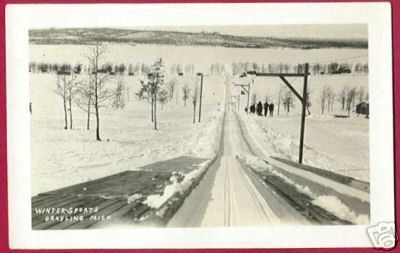 Primary image for GRAYLING MICHIGAN Winter Sports People RPPC MI
