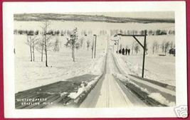 GRAYLING MICHIGAN Winter Sports People RPPC MI - $15.00