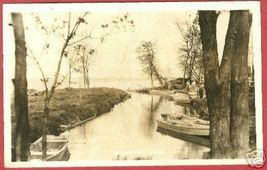 HOUGHTON LAKE MI River Boats RPPC Michigan - $12.50