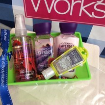 Bath Body Works Travel Set of Lavender Honey Shower Gel, Lotion, Fraganc... - $19.95