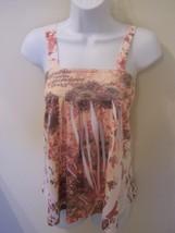 Shorty Womens / Juniors Top Sleeveless Medium Polyester Blend Multi-Color - $9.98