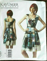 Vogue 1353 Dress Kay Unger Designer Miss Sizes 16 18 20 22 24 Uncut Sew ... - $26.43