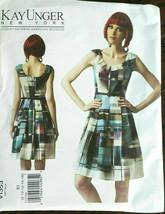 Vogue 1353 Dress Kay Unger Designer Miss Sizes 16 18 20 22 24 Uncut Sew Pattern  - $26.43