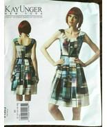 Vogue 1353 Dress Kay Unger Designer Miss Sizes 16 18 20 22 24 Uncut Sew ... - $26.43