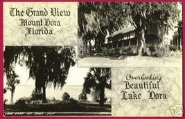 MT DORA FLORIDA Lake Grand View Hotel RPPC FL Dops - $15.00