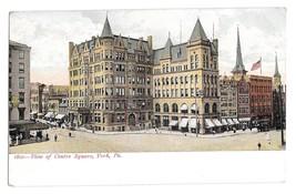 York PA View of Centre Square Vintage UDB Postcard Souvenir Post Card Co  - $4.99