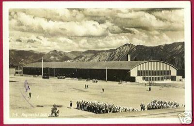 Primary image for Regimental Drill Hall Servicemen RPPC Mountains