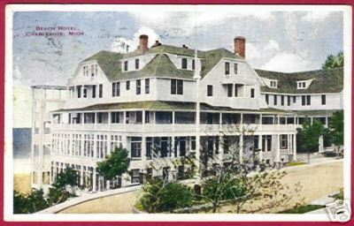 CHARLEVOIX MICHIGAN Beach Hotel 1930 MI