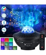 LED Galaxy Starry Night Light Projector Bluetooth Ocean Party Speaker Re... - $36.42