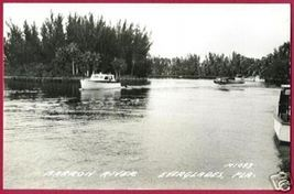 EVERGLADES FLORIDA Barron River Boats RPPC Airplane - $15.00