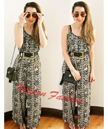 Forever21 Tribal Boho Jumpsuit Wide Leg One Piece Trousers Palazzo Rompe... - $79.99
