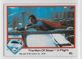 Superman the Movie 1978 Topps DC Comics #40 Christopher Reeve The Man of Steel - $1.75