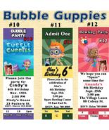 Birthday Invitation Bubble Guppies 1 ea Digital JPG File Personalized Cu... - $8.50