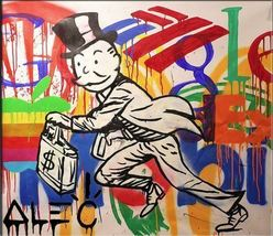 Alec Monopoly Amazing HD print on Canvas Urban art Wall Decor Corporatis... - $31.67
