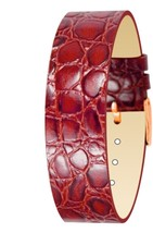 Moog Paris Red Calf Leather Bracelet for Women, Alligator Pattern, Pin C... - $46.65