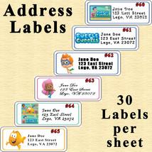 Bubble Guppies Birthday Stickers 1 Sheet Nuggett Wrap Address Label Personalized - $5.75