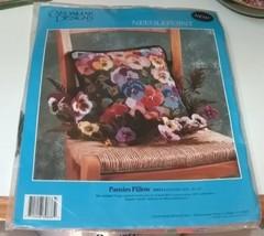 Candamar Designs Pansies Pillow Needlepoint Kit - $19.99