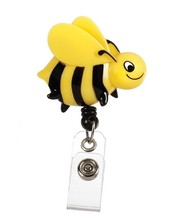 Retractable Yellow Black Bumble Bee Medical Badge Delux 3-D ID Clip Hold... - $12.71