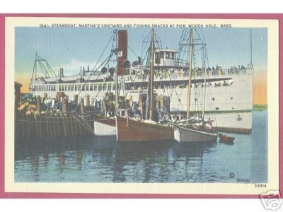 WOODS HOLE CAPE COD MASSACHUSETTS Ships Steamboat