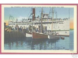 WOODS HOLE CAPE COD MASSACHUSETTS Ships Steamboat - $6.00
