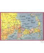 CAPE COD MASSACHUSETTS Nantucket Buzzards Map PC - $5.00