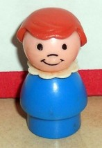 Vintage 80's Fisher Price Little People Blue Girl Rare #111 916 2502 Bro... - $5.94