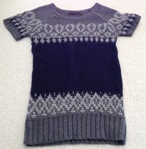 The Limited Short Sleeve Sweater Navy/Gray Women's XS image 1